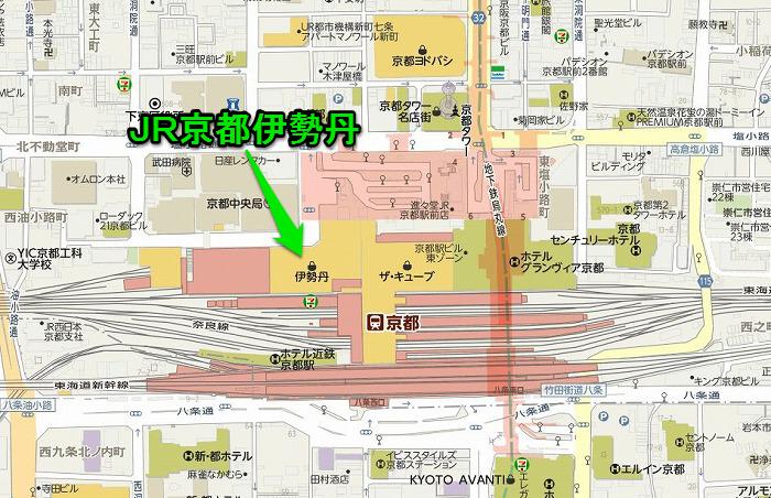 JR京都伊勢丹地図700452